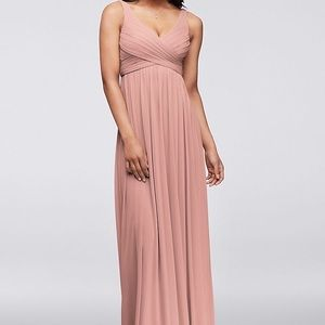 David's Bridal Ballet Cowl Back Bridesmaid Dress